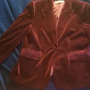 Tahari Arthur S Levine Ome Button  Velvet Jacket